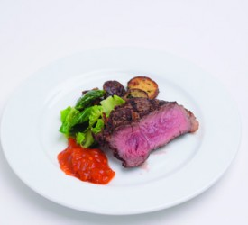 Cowboy Ribeye with Brussel Sprout
