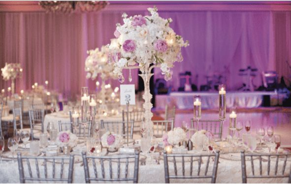Stunning Floral Decor and Wedding Table Setting