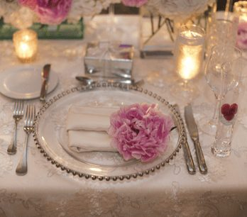 Wedding Place Setting with Floral Decor