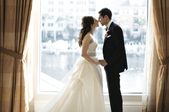 The Happy Newlyweds at Tampa Waterside Marriott
