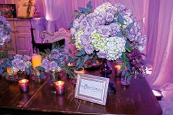 floral design at the Elegant Wedding Showcase