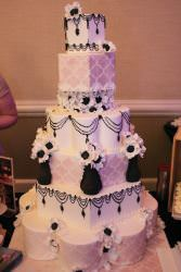 wedding cake by chocolate pi