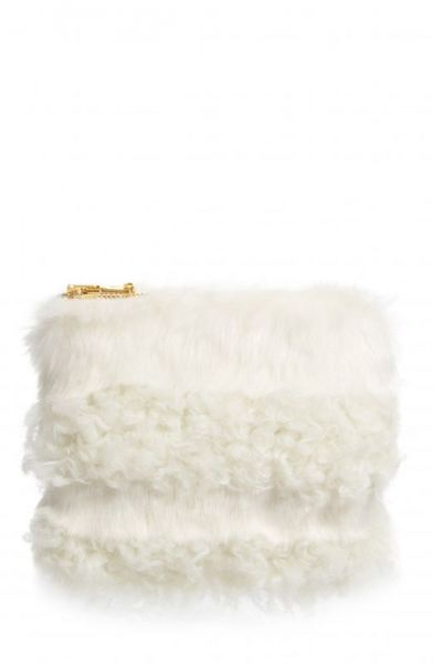 Nordstrom Exclusive Jenny Faux Shearling Clutch